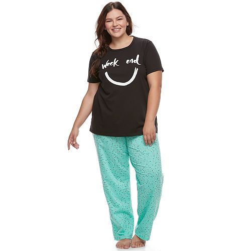 Juniors' Plus Size SO® Graphic Sleep Set