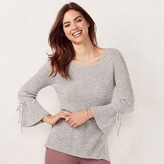 Women's LC Lauren Conrad Ribbed Scoopneck Sweater