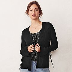 Women's LC Lauren Conrad Love, Lauren Ribbed Cardigan