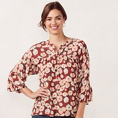 Women's LC Lauren Conrad Floral Shirred Blouse