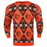 Men's Baltimore Orioles Candy Cane Holiday Sweater