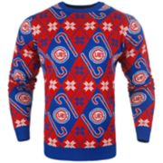 Men's Chicago Cubs Candy Cane Holiday Sweater