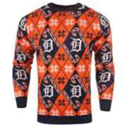 Men's Detroit Tigers Candy Cane Holiday Sweater