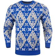 Men's Los Angeles Dodgers Candy Cane Holiday Sweater