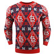 Men's St. Louis Cardinals Candy Cane Holiday Sweater