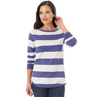 Women's Apt. 9® Striped Button Back Sweater