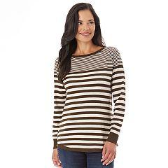 Women's Apt. 9® Striped Button Back Sweater