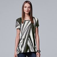 Women's Simply Vera Vera Wang Essential Textured Tee