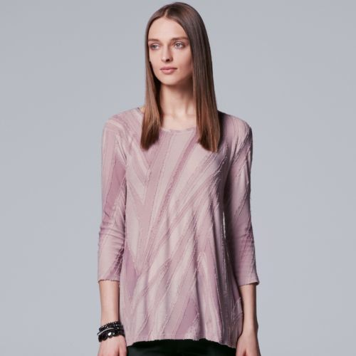Women's Simply Vera Vera Wang Abstract Textured Tee by Kohl's