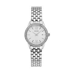 Seiko Women's Stainless Steel Crystal Bezel Watch - SUR695