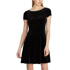 Women's Chaps Paneled Velvet Dress