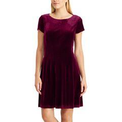 Women's Chaps Paneled Velvet Dress
