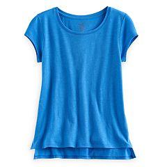 Girls 7-16 & Plus Size SO® Vented Hem Core Tee