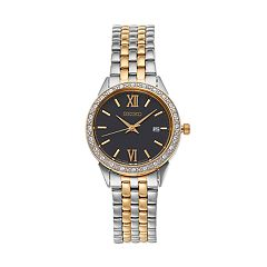 Seiko Women's Crystal Two Tone Stainless Steel Watch - SUR684