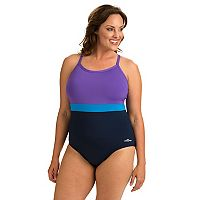 Plus Size Dolfin Colorblock One-Piece Swimsuit