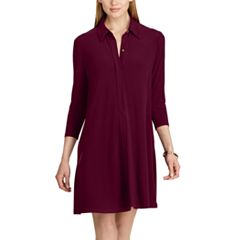 Women's Chaps Jersey A-Line Shirtdress