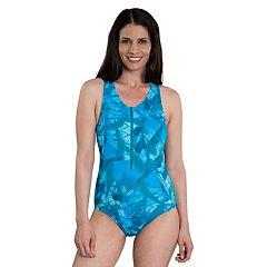Women's Dolfin Zip One-Piece Swimsuit