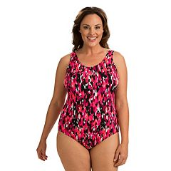 Plus Size Dolfin Moderate Scoopback One-Piece Swimsuit