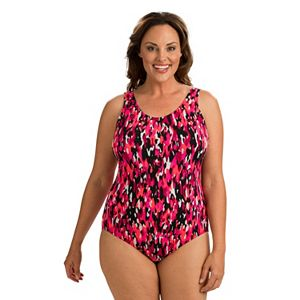 47fc41bb74e Plus Size Pink Envelope Macramé One-Piece Swimsuit. (1). Sale