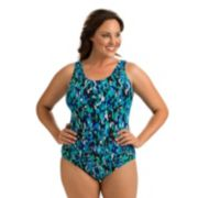 Plus Size Dolfin Moderate Scoopback One-Piece Swimsuit