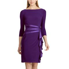 Women's Chaps Satin Trim Jersey Dress