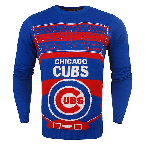 Chicago Lighting Stores: Men's Chicago Cubs Stadium Light-Up Holiday Sweater
