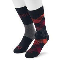 Men's Funky Socks 2-pack Patterned Crew Socks
