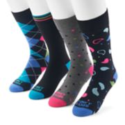 Men's Funky Socks 4-pack Casual Crew Socks