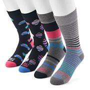 Men's Funky Socks 4-pack Casual Crew Socks