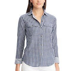 Petite Chaps Plaid Button-Down Work Shirt