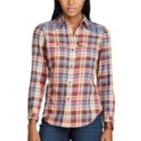 Petite Chaps Plaid Button-Down Work Shirt