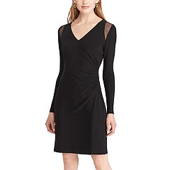 Women's Chaps Mesh Trim Jersey Dress