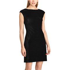 Women's Chaps Striped Velvet Dress
