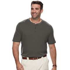 Big & Tall Croft & Barrow® Classic-Fit Easy-Care Interlock Henley