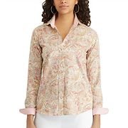 Petite Chaps Striped Button-Down Shirt