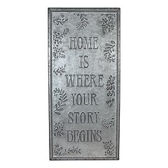 SONOMA Goods for Life™ 'Home' Galvanized Iron Wall Decor
