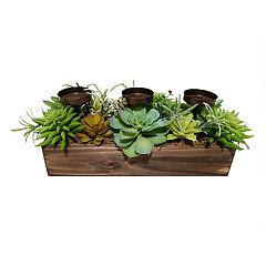SONOMA Goods for Life™ Artificial Succulent 3-Light Tealight Candle Holder