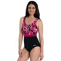 Women's Dolfin Colorblock Moderate Scoopback One-Piece Swimsuit