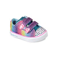 Skechers Twinkle Toes Twinkle Breeze 2.0 Colorful Crochets Toddler Girls' Light Up Sneakers