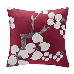 N Natori Cherry Blossom Floral Throw Pillow
