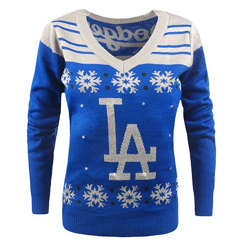 Women's Los Angeles Dodgers Light-Up Holiday Sweater