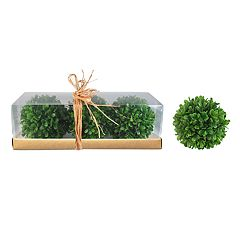 SONOMA Goods for Life™ Artificial Boxwood Ball Vase Filler 3-piece Set