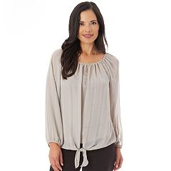 Women's Apt. 9® Tie Peasant Blouse
