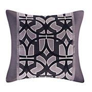 N Natori Abstract Stripe Square Throw Pillow