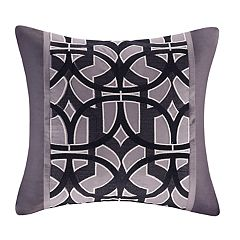 N Natori Abstract Stripe Square Throw Pillow