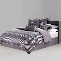 N Natori Abstract Stripe Comforter Set