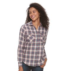 Women's Lee Plaid Floral Shirt