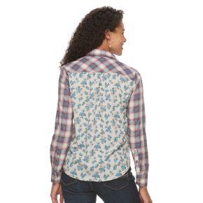 Women's Lee Plaid Floral Shirt