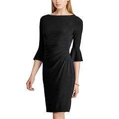 Petite Chaps Jersey Bell-Sleeve Sheath Dress