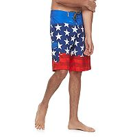 Men's Ocean Current American Flag Tech Cargo Board Shorts